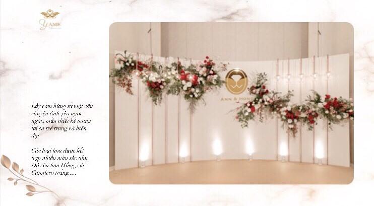 backdrop chụp hình cưới tại nhà hàng