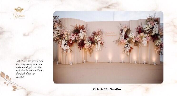Backdrop cưới đẹp Yame Wedding