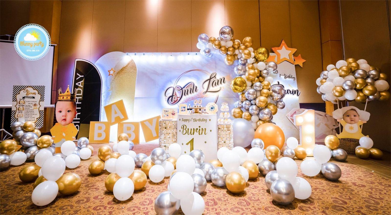 hình ảnh trang trí tiệc sinh nhật cho bé trai
