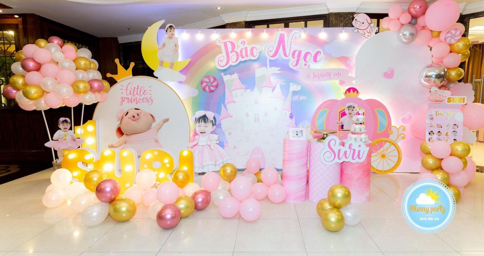 trang trí tiệc sinh nhật tại nhà hàng