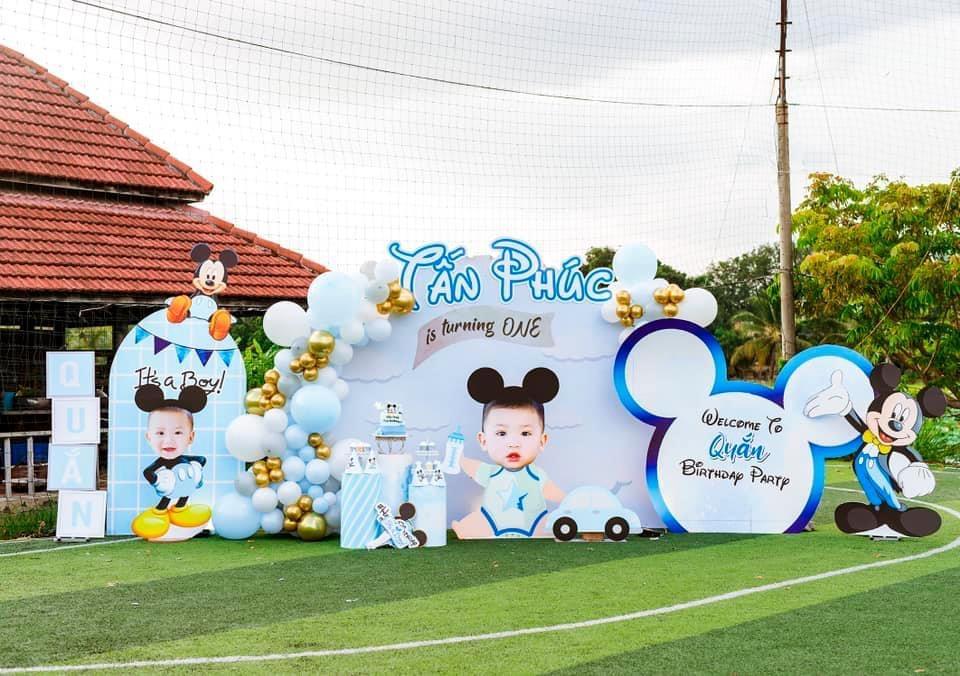 hình ảnh trang trí decor tiệc sinh nhật cho bé trai