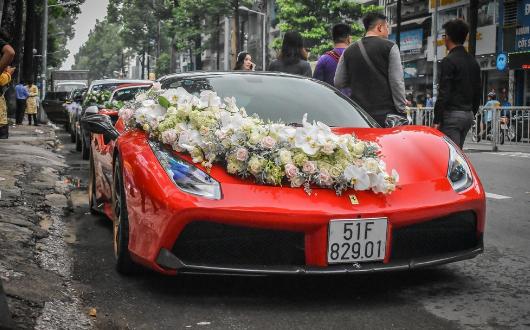 dịch vụ trang trí xe hoa cưới